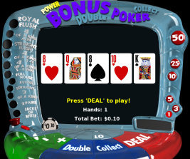 Play no download casino games such as Bonus Video Poker only at Win A Day Casino!