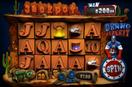 Play no download slot machine games such as Grand Liberty at WinADayCasino.eu!