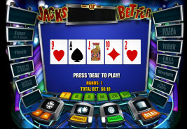 Play Jacks or Better Video Poker and other casino games at Win A Day Casino!