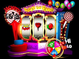 Play Lucky Go Round slot machine and other casino games at Win A Day Casino!