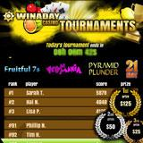 Play slot tournaments at Win A Day no download casino and win daily!