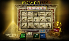 Play Pyramid Plunder online slot machine and other casino games at Win A Day Casino!