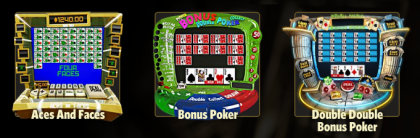 Play Video Poker and other casino games at Win A Day Casino!