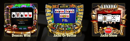 Win A Day Casino offers a selection of Video Poker games.