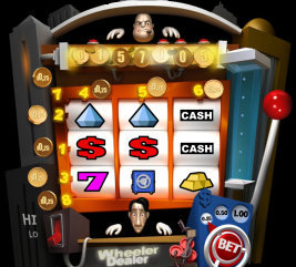 Play instant casino games such as Wheeler Dealer at WinADayCasino.eu!