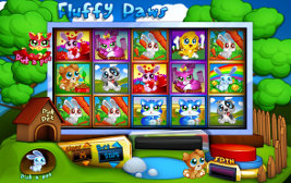 Play instant casino games such as Fluffy Paws at WinADayCasino.eu!
