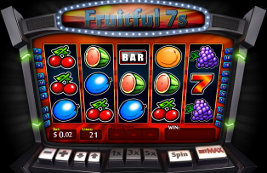 Play Fruitful 7s slot machine and other casino games at Win A Day Casino!
