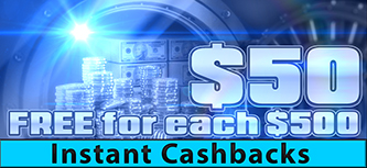 Win A Day Casino instant cashbacks